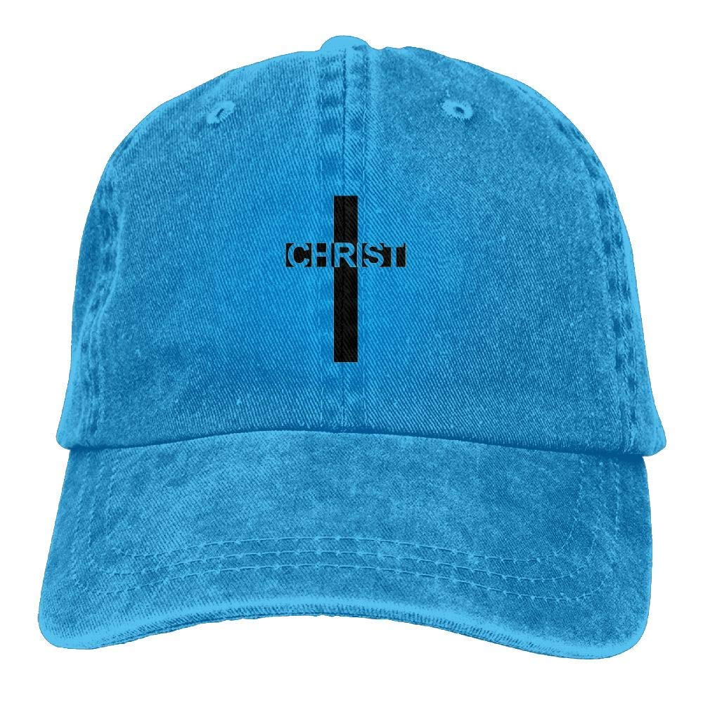 TTHDK-OON Casual Men Women Christian Jesus Cross Flat Ajustable Snapback Cap ForestGreen