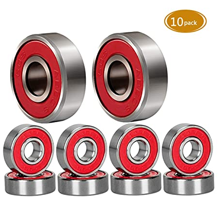 Spruce Skateboard Bearing, ABEC-9/ABEC-11 High Speed Wearproof Skating Steel Wheel Roller, Precision Skate Bearings for Longboard, Kick Scooter, Inline and Roller Skates
