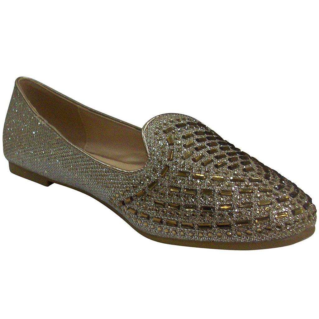 Women's Amanda-15 Rhinestone Mesh Flat Shoes