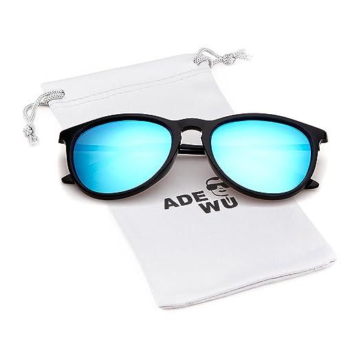 6a339332c11 ADEWU Vintage Polarized Sunglasses for Women and Men Erika Retro Round  Designer Style