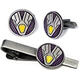 SharedImagination Vision Cufflinks, Marvel Avengers Logo Tie Clip, Iron Man Jarvis Jewelry, Ironman Captain America Tie Tack