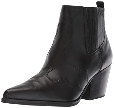 a2b02cf8b Sam Edelman Women s Winona Western Boot Black Leather 5 ...