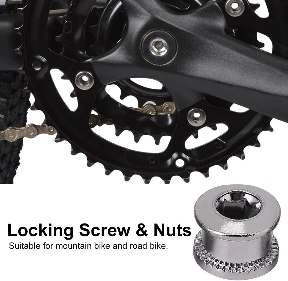 Chain Wheel Bolts and Nut Set for Mountain Bikes Road Bicycles Bike Accessory VGEBY1 Crankset Lock Screws