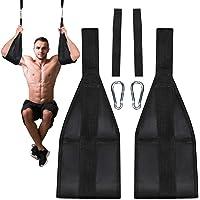 MYSBIKER Magselremmar, fitness hängande magband för magmuskelbyggnad och kärnstyrketräning, justerbart armstöd för…