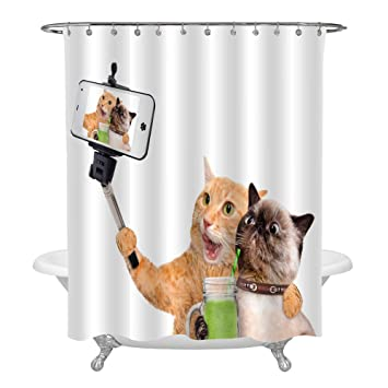 The Black Dog Theme Waterproof Fabric Home Decor Shower Curtain Bathroom Mat