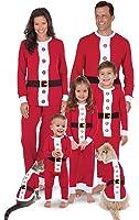 PajamaGram Santa Suit Christmas Matching Family Pajama Set, Red