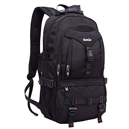 foto ufficiali 9ade5 406f9 Zaino Università Uomo Grande Volume Nero Backpack Laptop Impermeabile Zaini  per Computer 17 Pollici da Viaggio Sportivi, 40l