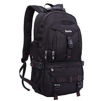 967e5b7d48c3f Sport Rucksack Wasserdichter Daypacks Laptoprucksäcke mit 15.6 Zoll  Laptop-fach Backpack Schwarz für Herren Outdoor