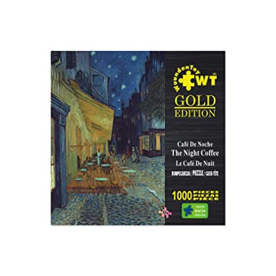 WUUNDENTOY Jigsaw Puzzle -The Cafe Terrace at Night- 1000 Pieces 12+ Years Old: Toys & Games