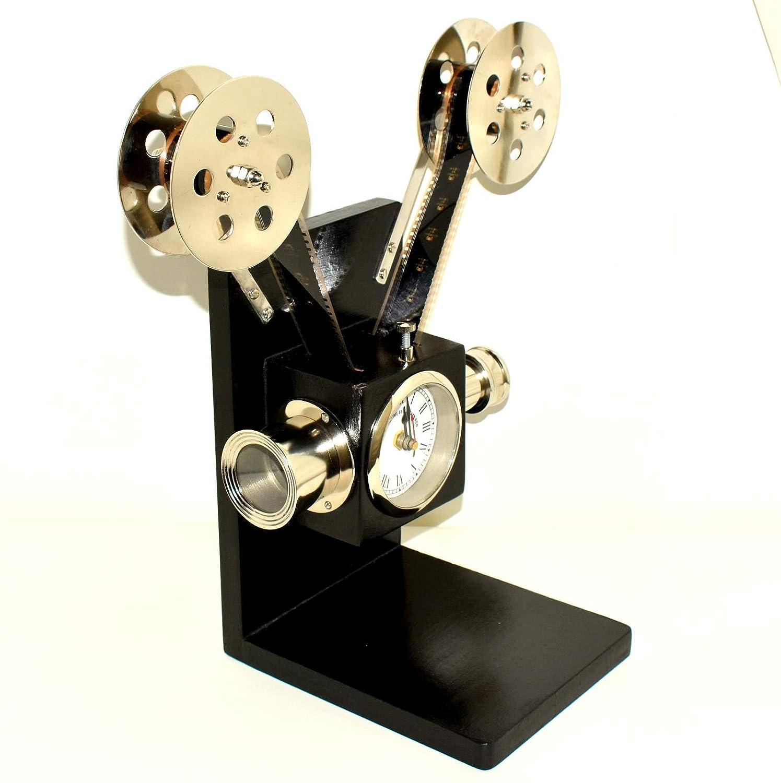 Nautical World Cámara de proyector estilo vintage con reloj y ...