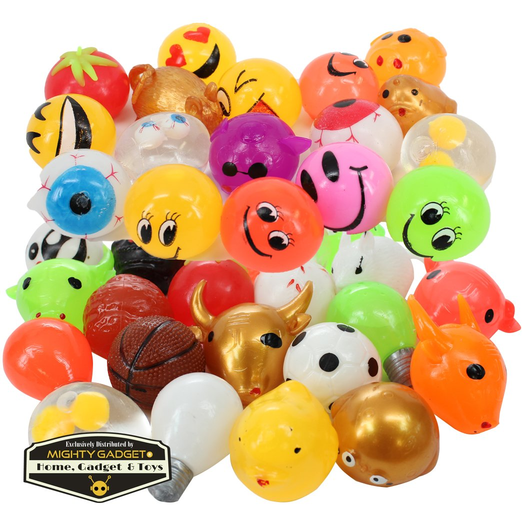 Mighty Gadget (R 12 Pack of Sticky Funny Splat Balls (Random Styles) by Mighty Gadget (Image #1)