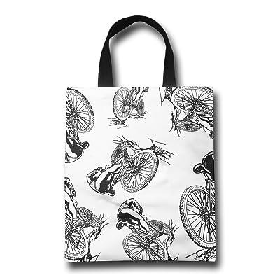 544ec1cc2d 80%OFF Biking Funny Unisex Shopping Bags Shopping Grocery Tote Bags ...