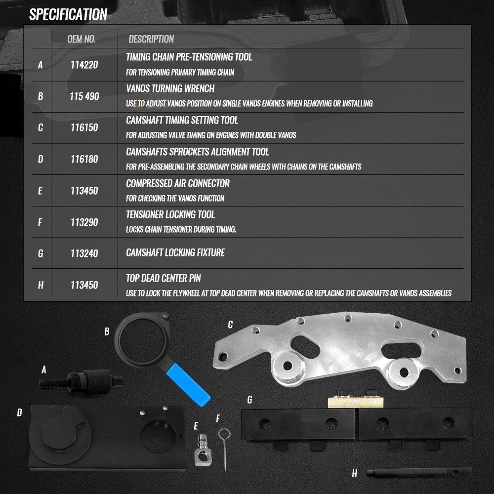 Ewk Bmw M52tum54m56 Master Camshaft Alignment Timing 2005 525i Belt Tool With Double Vanos Automotive