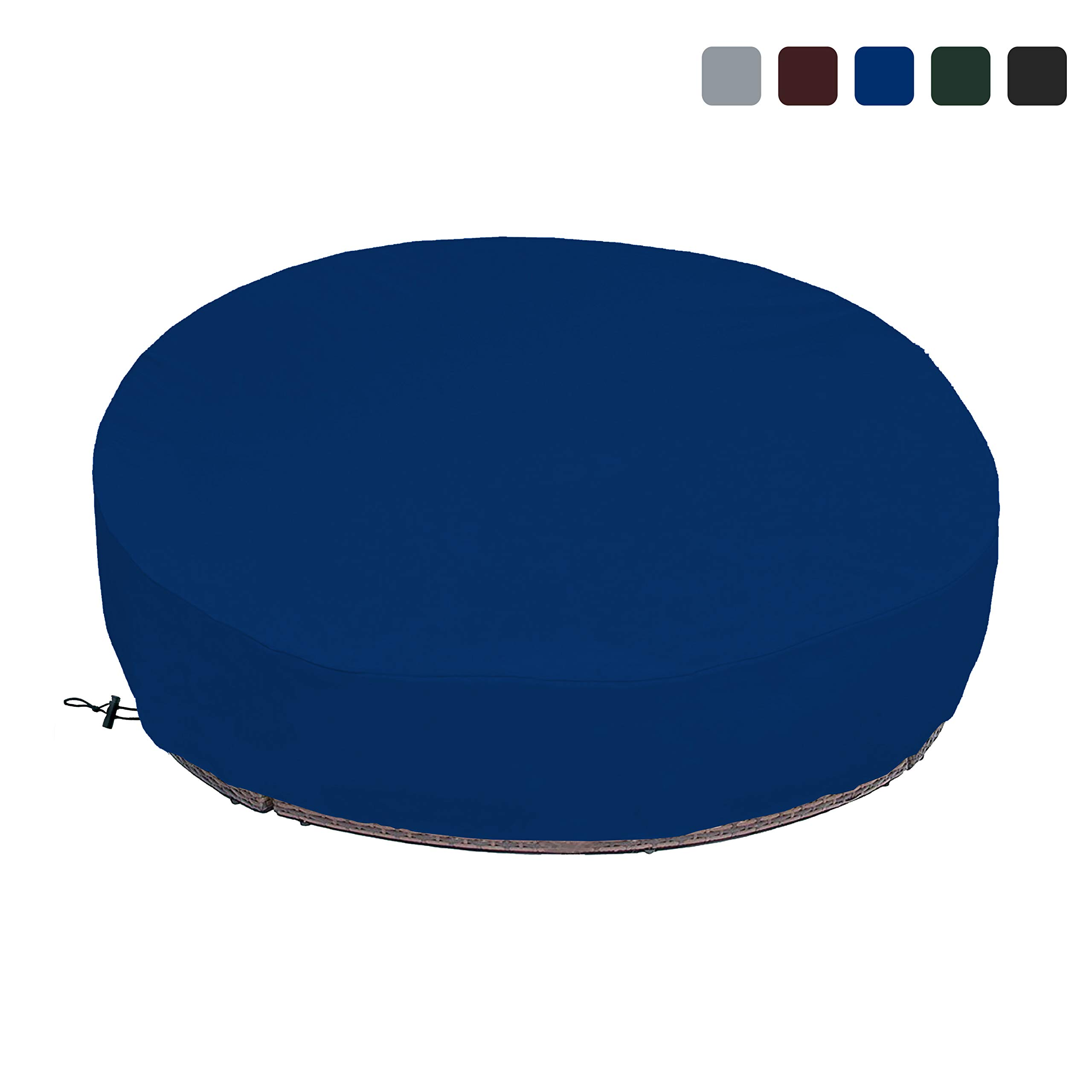 COVERS & ALL Outdoor Daybed Cover 18 Oz Waterproof - 100% UV & Weather Resistant Patio Furniture Cover with Air Pockets and Drawstring for Snug fit (Blue) by COVERS & ALL (Image #1)