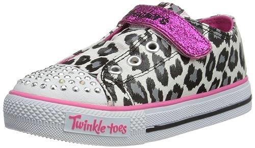Skechers Shuffles Lil Wild - Zapatillas de lona niña, color blanco, talla 21: Amazon.es: Zapatos y complementos