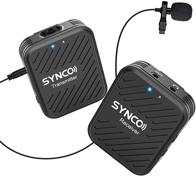 Wireless Microphone System 2.4GHz, SYNCO G1 Lavalier: Amazon.co.uk: Camera & Photo
