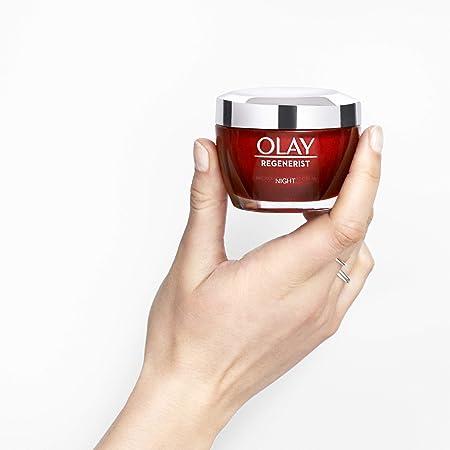 Olay Regenerist 3 Áreas Hidratante Anti-Edad Reafirmante Noche, da Firmeza y Reduce el Aspecto de las Arrugas - 50 ml