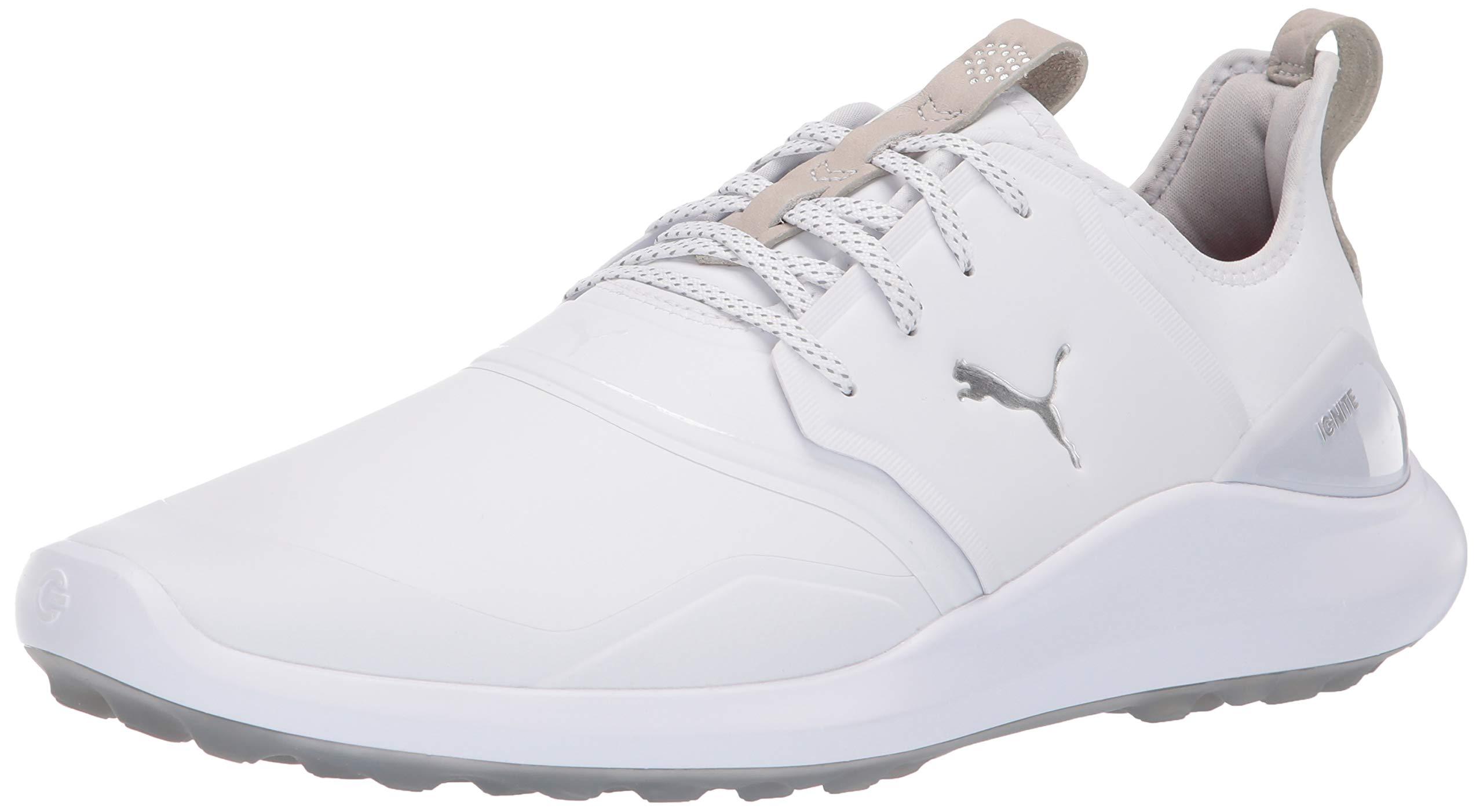 Puma Golf Men's Ignite Nxt Pro Golf Shoe White-Puma Silver-Gray Violet, 14 M US by PUMA