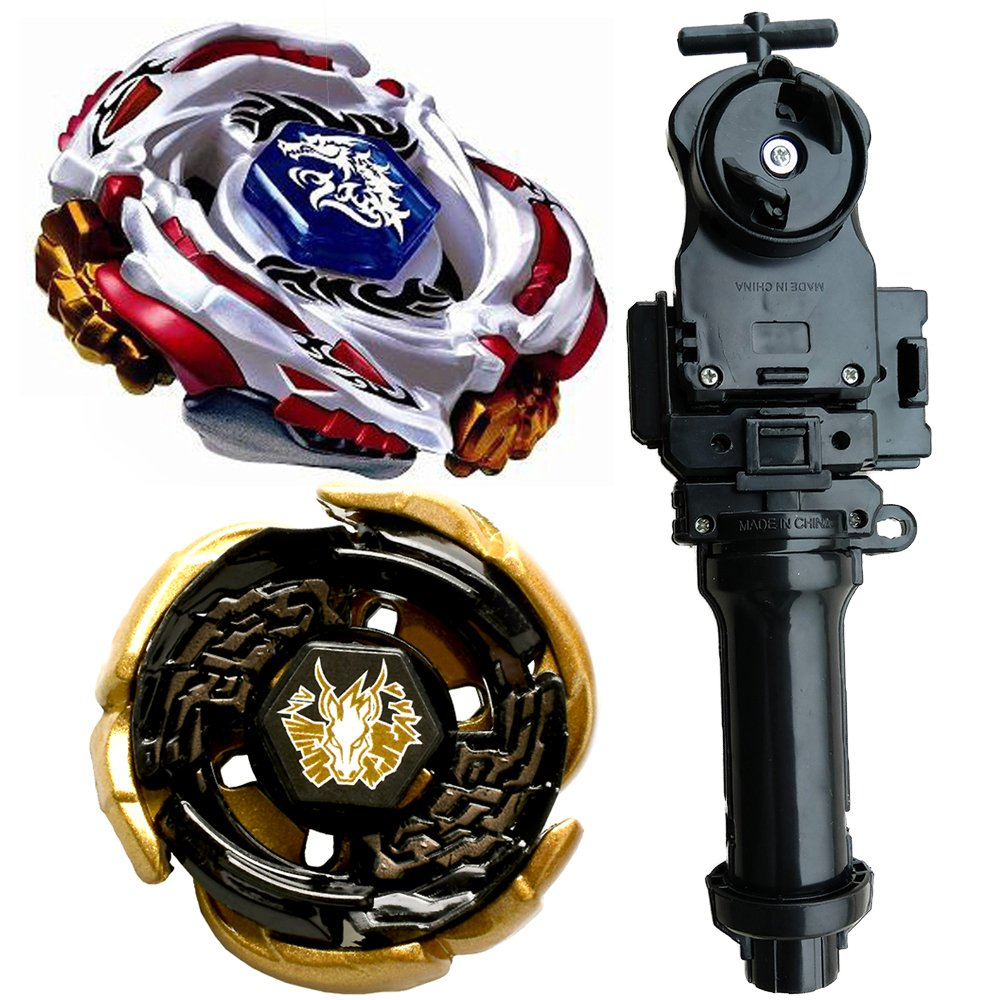 lbekom Lost Battling Set Cosmic Pegasus 4D WBBA Top Rapidity Metal Fusion +Meteo L-Drago LW105LF Metal Masters 4D Generic BB-88 battling top + Black Power String Laucher + GRIP, Complete Set