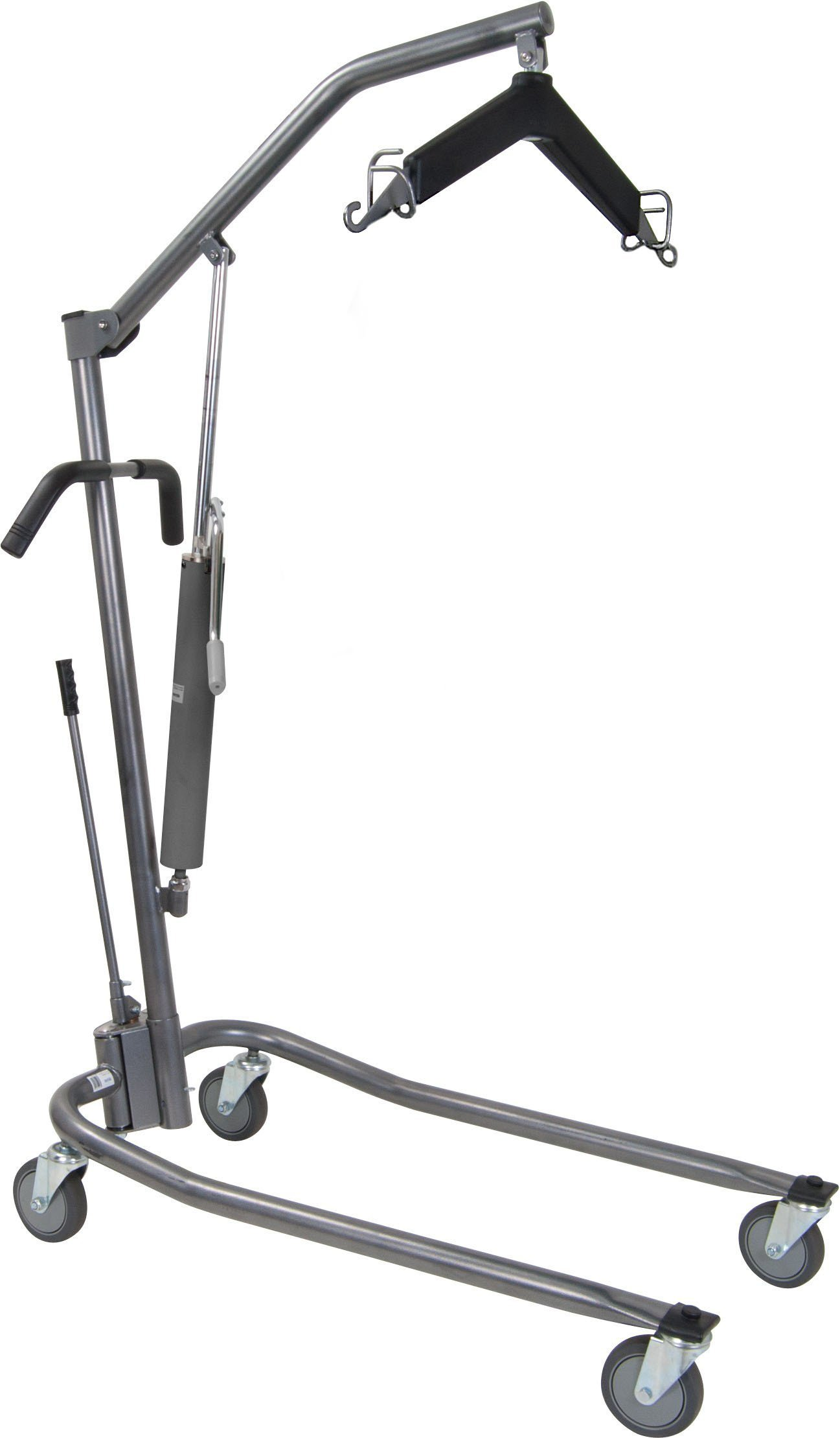 Drive Medical Hydraulic Patient Lift with Six Point Cradle, 5'' Casters, Silver Vein