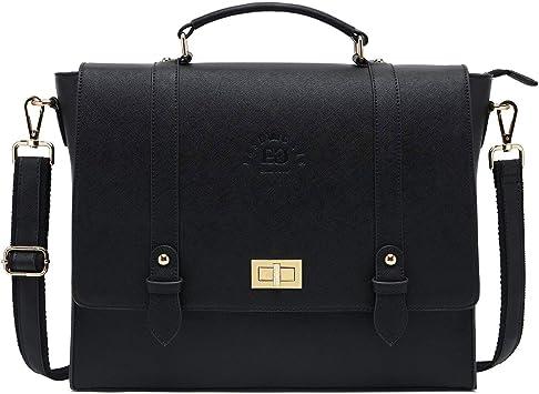 Laptop Briefcase Handbag Bag For File Document Office Makeup Bag Men Women Bags Dark Gray