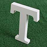"""Wishwin White Large Wooden Letters 5.9"""" A-Z"""