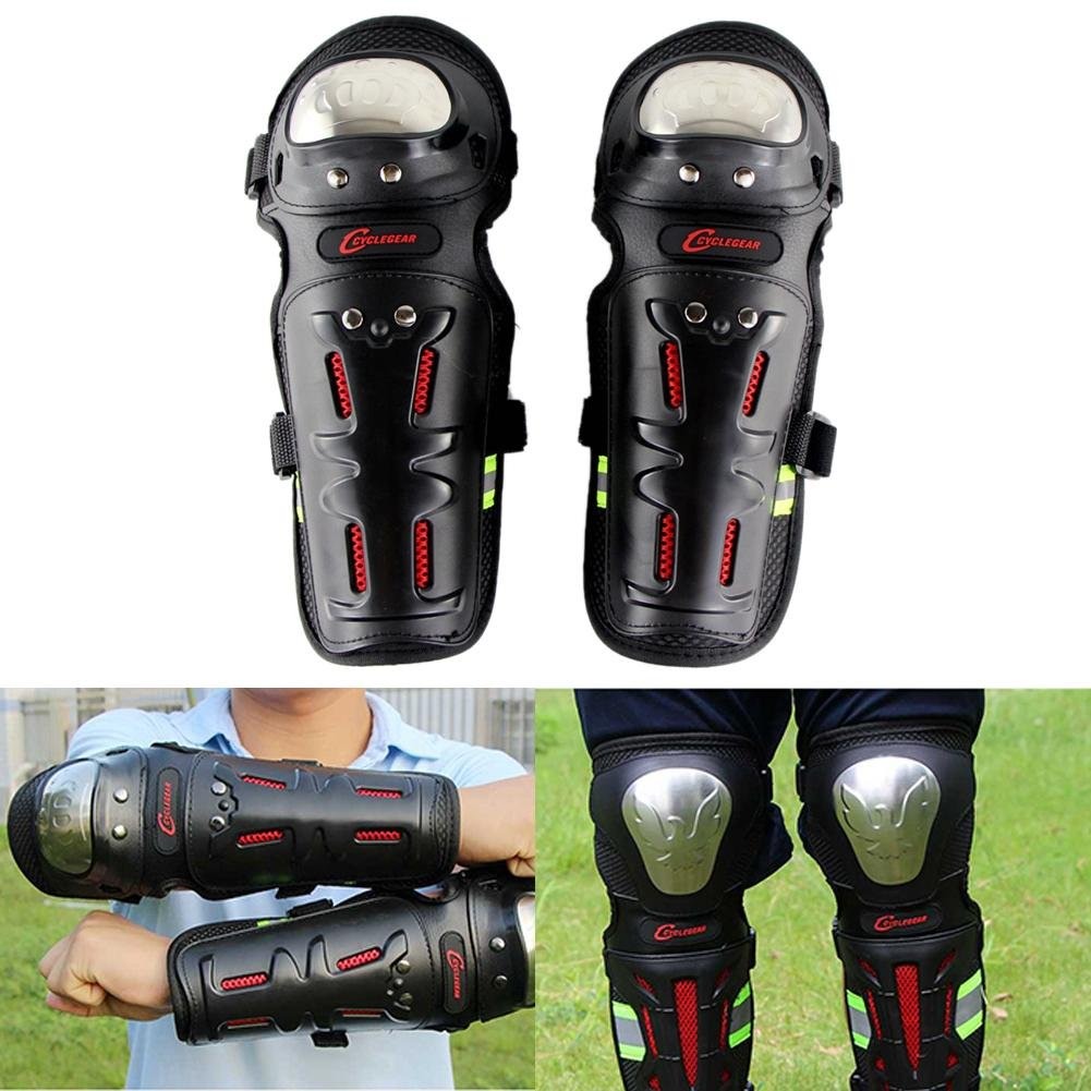 Beatie Protection kits pour genoux et coude, Professionnel Adulte Chevalier ré sistant aux é clats genouillè re et protè ge coude pour Motocross vtt velo