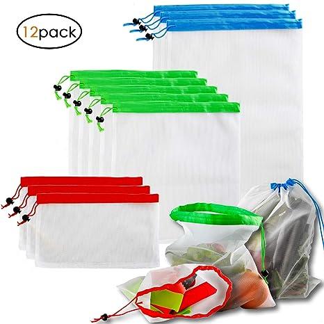 Amazon.com: Bolsas reutilizables para productos (12 unidades ...