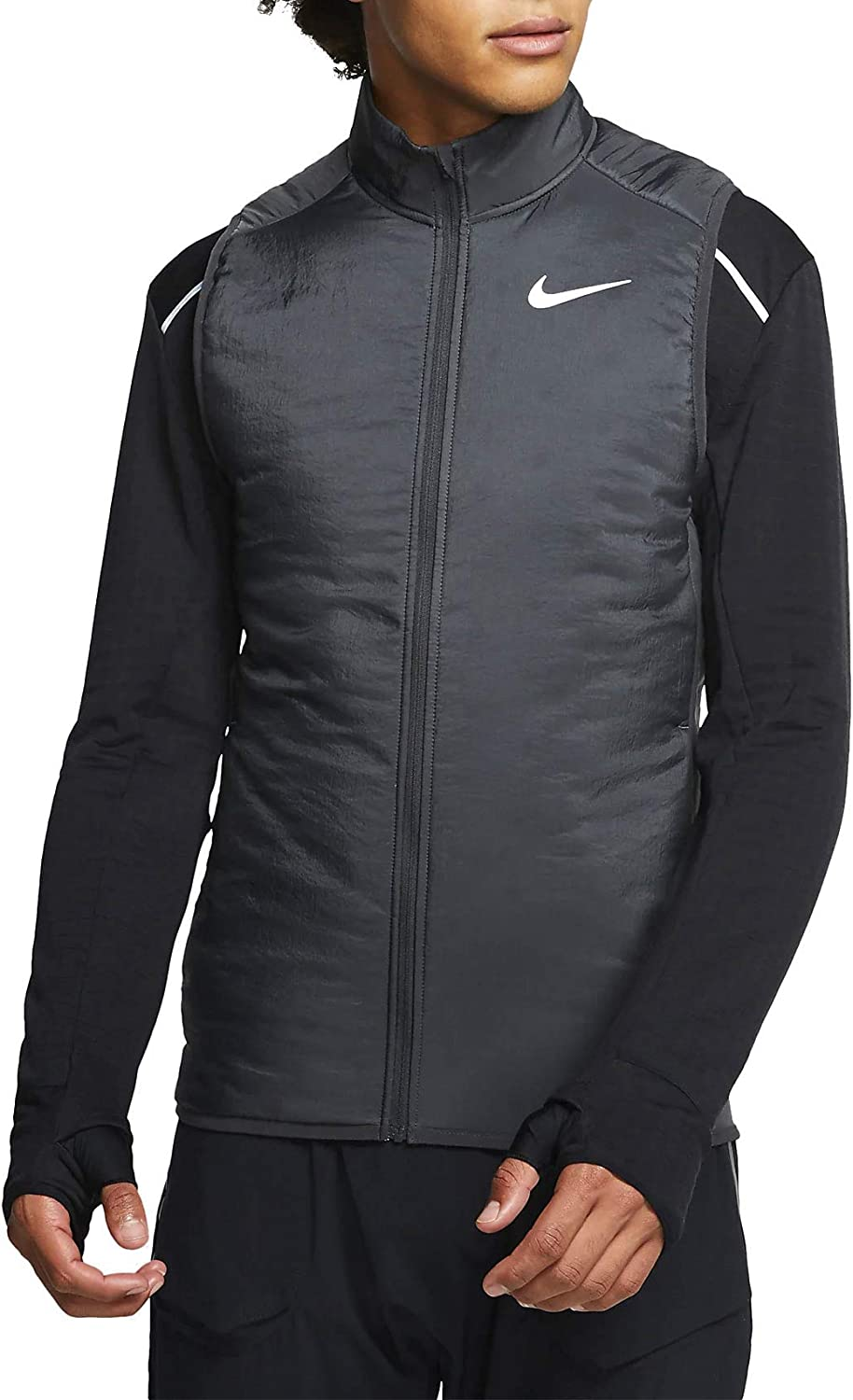 Goma de dinero Recordar Fahrenheit  Nike Men's M Nk Arolyr Vest Jacket, Dark Smoke Grey/Grey Fog/Reflective  Silver, S: Amazon.co.uk: Sports & Outdoors