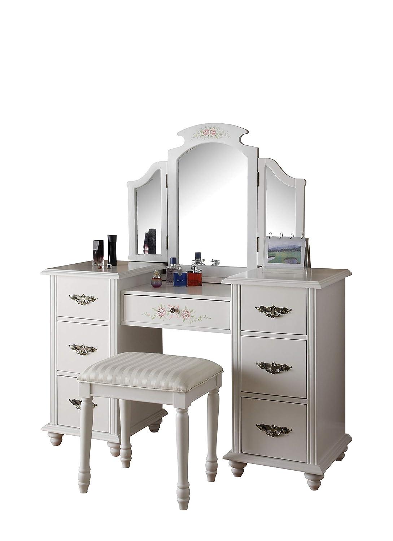Vanity Set.Acme 90026 2 Piece Torian Vanity Set White