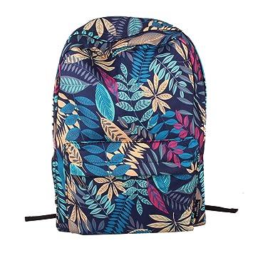 Wewod Mochilas Escolar de Estilo Casual Mochila de Viajes impresión (Azul): Amazon.es: Equipaje