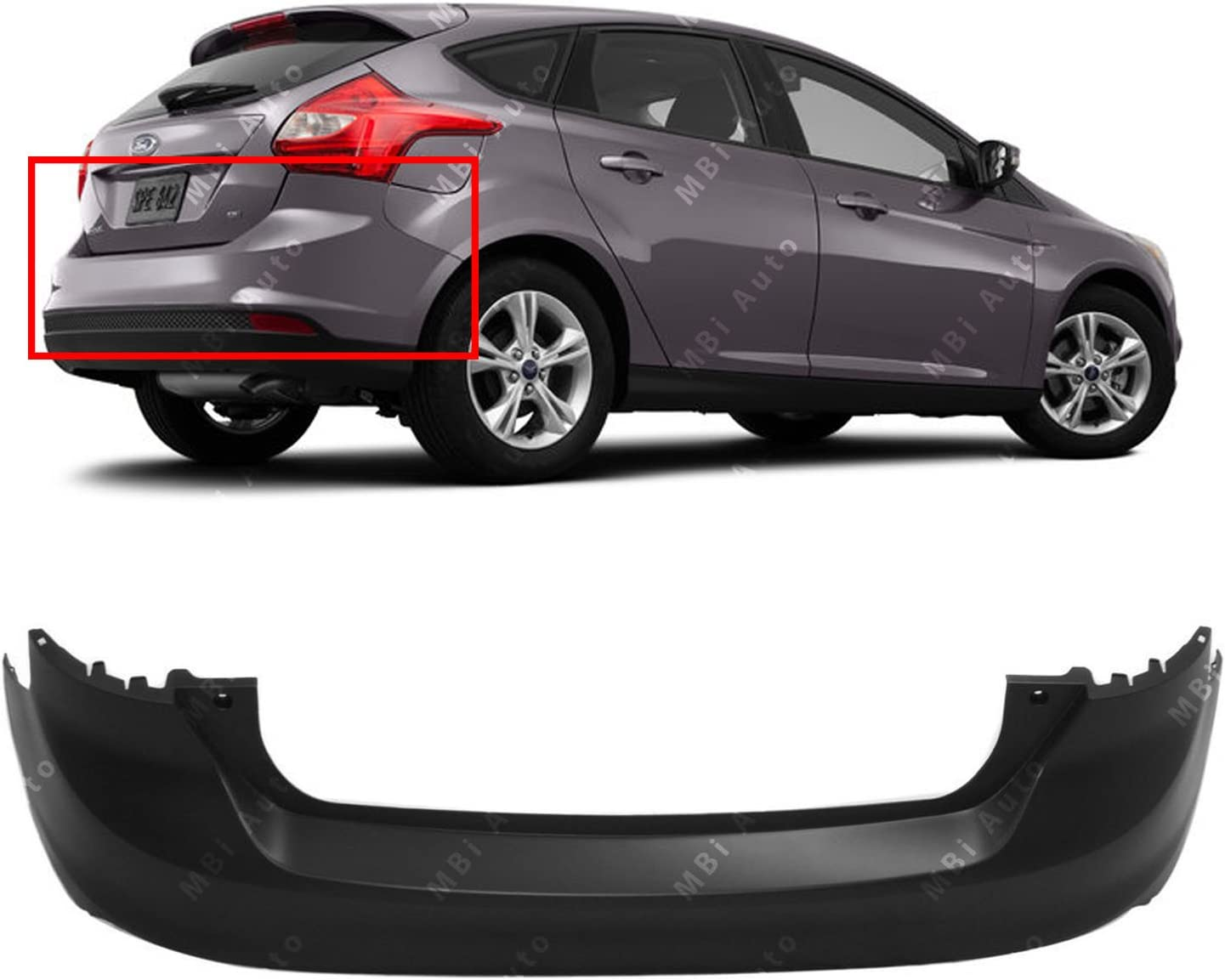 AUTOPA CP9Z-17810-B Rear Lower Bumper Valance Panel for 2012-2014 Ford Focus