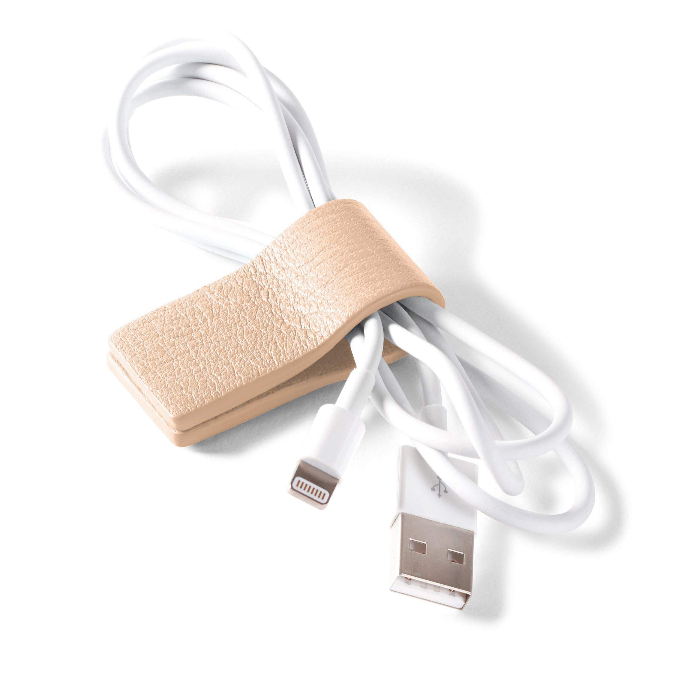 Cord Wrap - Full Grain Leather Leather - Rose (Pink)