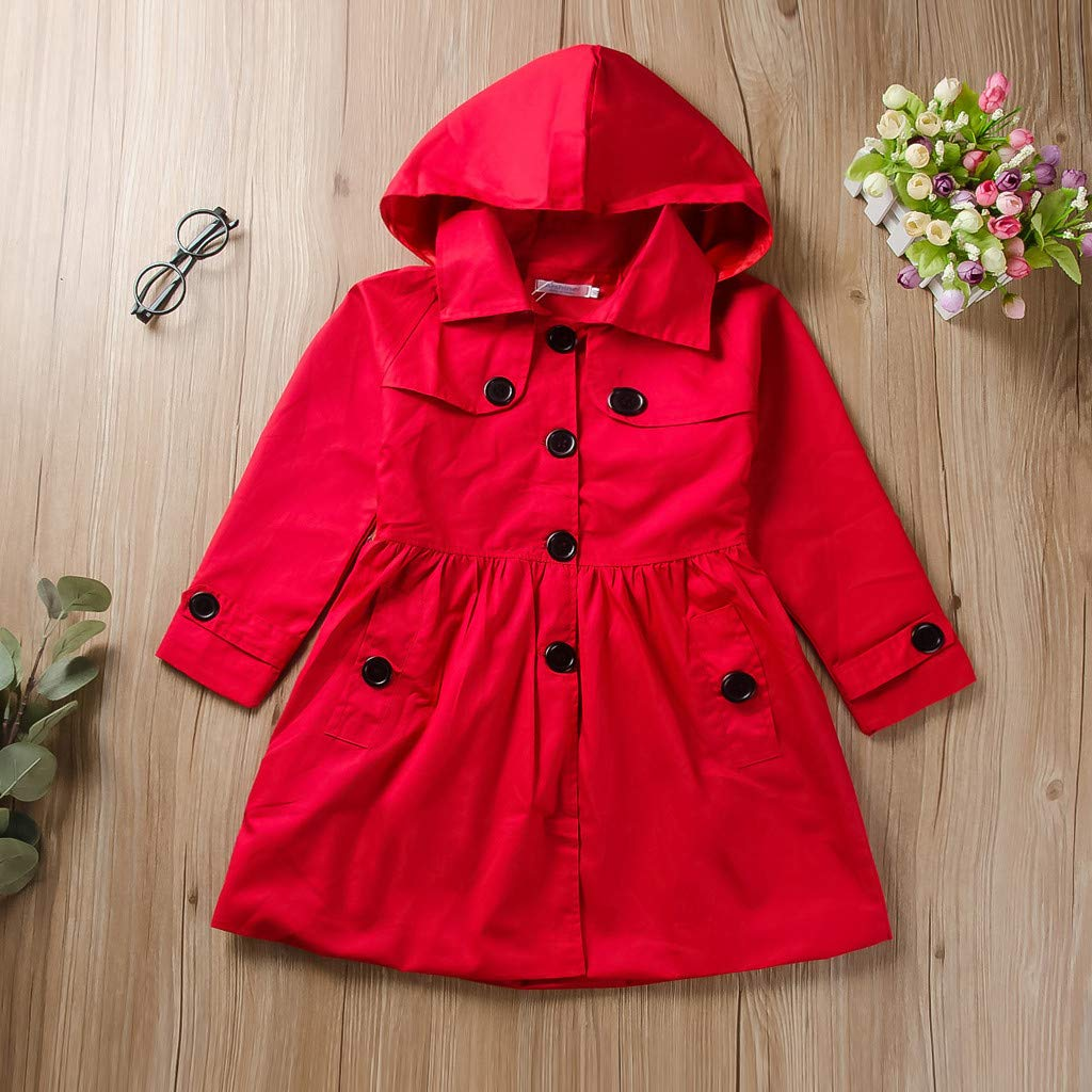 Toddler Girl Clothes for Winter,Long Sleeve Solid Ruched Hooded Windproof Coat Outwear,Toddler Clothes Girls