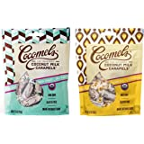 Cocomels Organic Gluten-Free Coconut Milk Caramels 2 Flavor Sampler Bundle, 1 each: Sea Salt and Vanilla (3.5 Ounces)