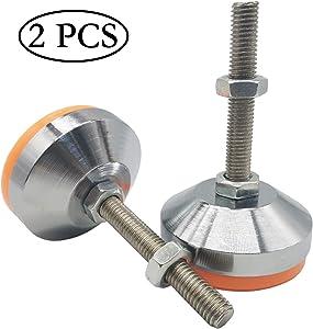 "TIHOOD 2PCS Heavy Duty Leveling Screw Leg 4"" Adjustable Feet Leveler Foot for Furniture Mechanical Equipment"