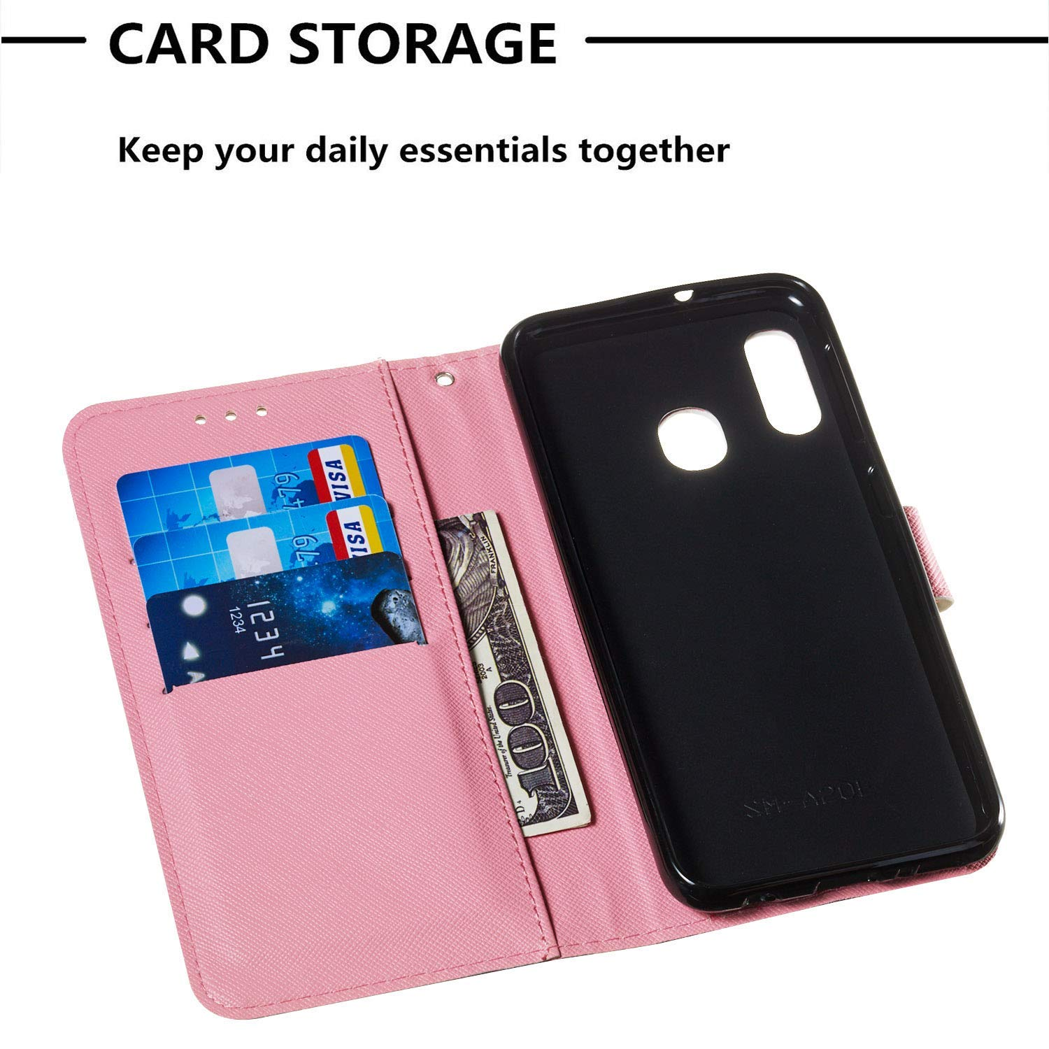 Wiitop Compatible with LG Stylo 4 Case,Q Stylus Crystal 3D PU Leather Wallet Heavy Duty Full Body Protective Phone Cover Credit Card Slot Magnetic Closure Kickstand Accessories Cloud Ghost