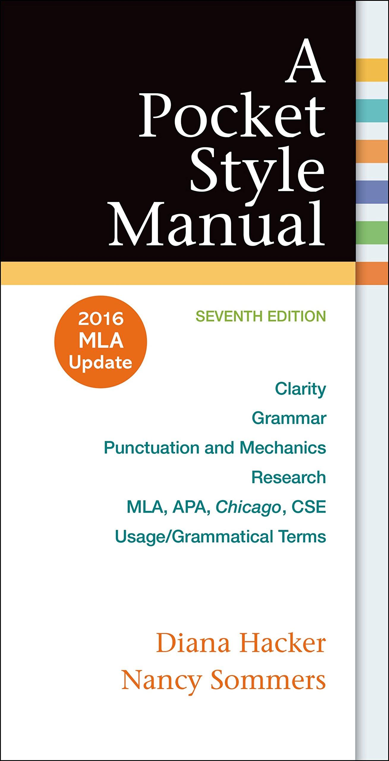 A Pocket Style Manual, 2016 MLA 7th Edition [Diana Hacker A Pocket Style  Manual Seventh Edition] 9781319083526: Diana Hacker: 9788900720495:  Amazon.com: ...