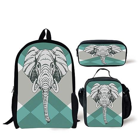 b5a1ba392c2e Amazon.com: School Lunch Pen,Elephant,Contemporary Image of Elephant ...