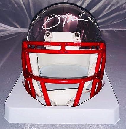 5bccbf55e Julian Edelman New England Patriots Signed Autographed Chrome Mini Helmet  JSA