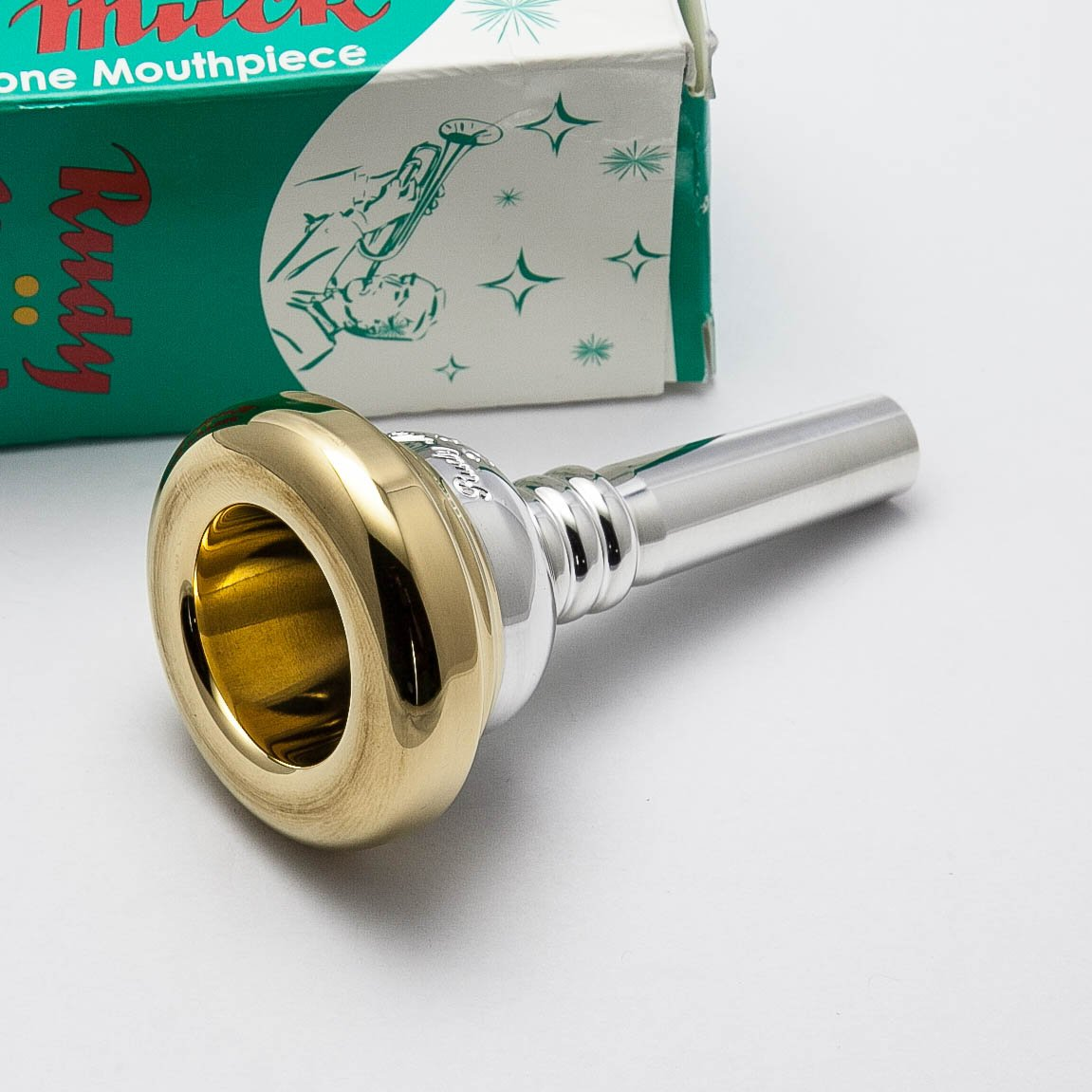 Rudy Muck 23 24K Gold Rim & Cup Small Shank Trombone Mouthpiece Conn-Selmer