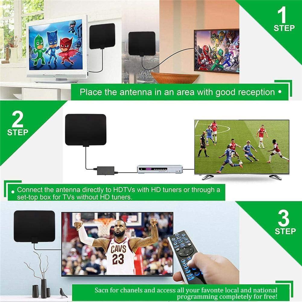 Dreameryoly Antena de TV Interior, Antena de TV Digital HD amplificada de 1180 Millas con 4K HD Freeview TV para la Vida Canales Locales Todo Tipo Hogar Smart Television/Radio wondeful: Amazon.es: Electrónica