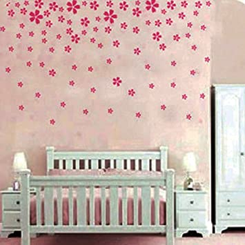 Pink flower wall sticker decal nursery and girls room nursery pink flower wall sticker decal nursery and girls room nursery wall decor amazon mightylinksfo