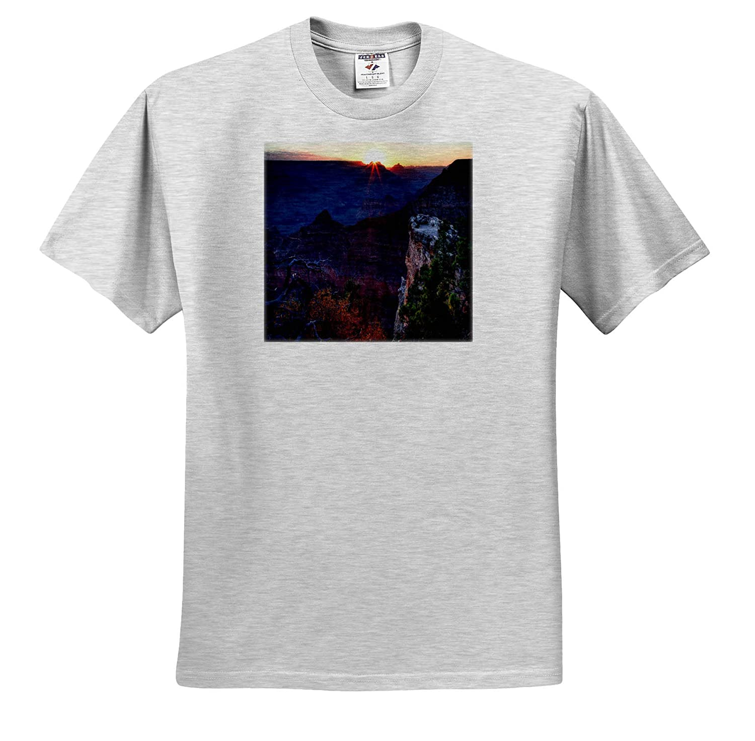 Sunrise Over The Canyon Landscapes 3dRose Mike Swindle Photography T-Shirts
