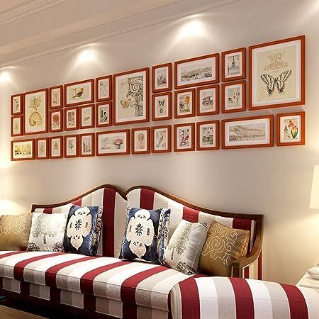 XIAOLVSHANGHANG HHNP Photo Frames Many Solid Wood Photo Wall Living ...