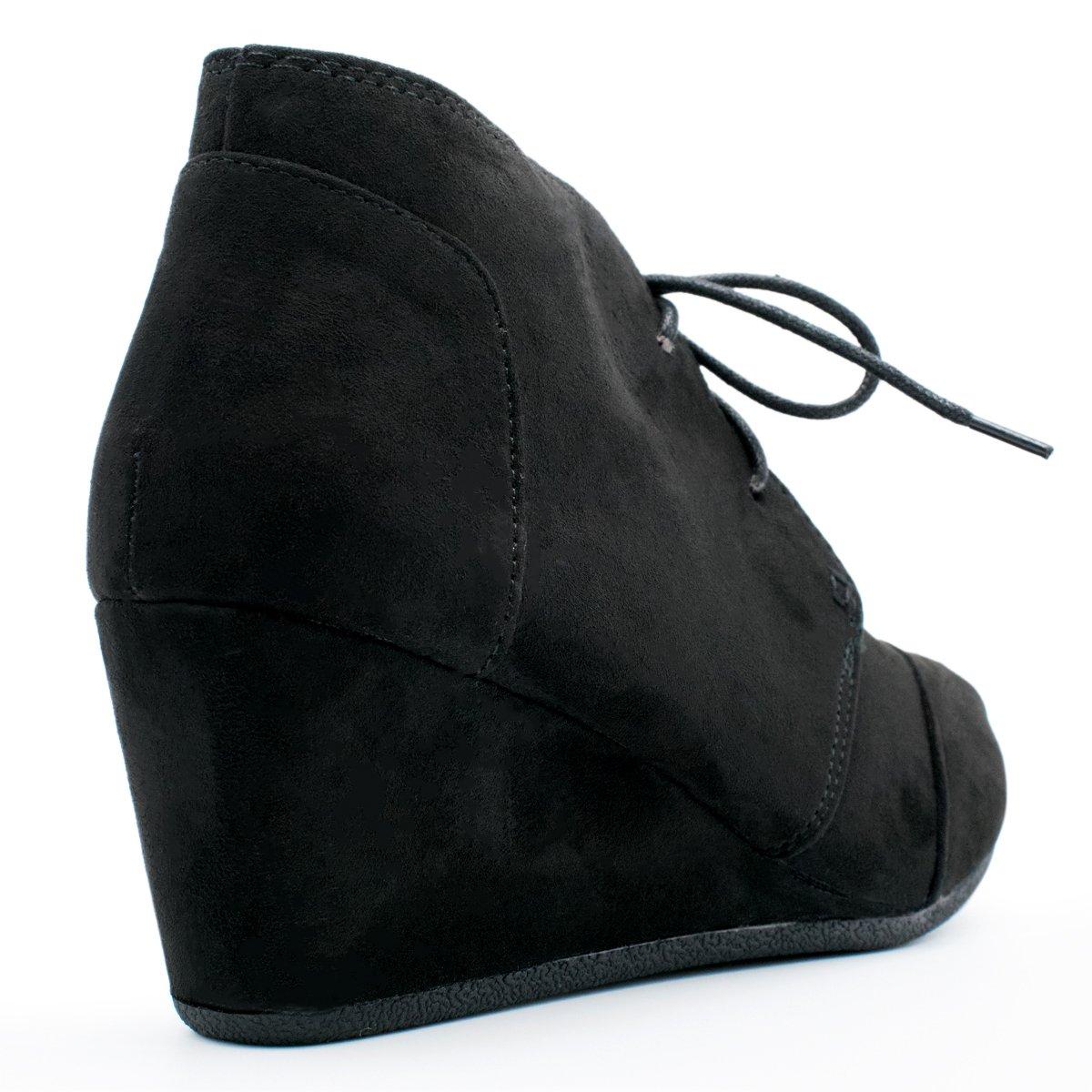 SODA Womens Rex Lace-Up Oxford Ankle Booties Hazel IMSU