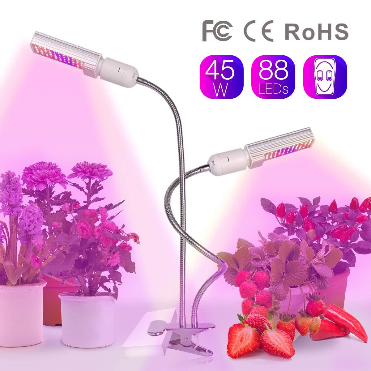 LED Tischlampe & Pflanzenlampe, Leselampe mit Augenschutz-Funktion, Vollspektrumlampe Zum Fördern des Pflanzenwachstums mit Hydrokulturtopf, USB-Ladeanschluss, Touch-Bedienung, Umluftventilator (Weiß) Relassy