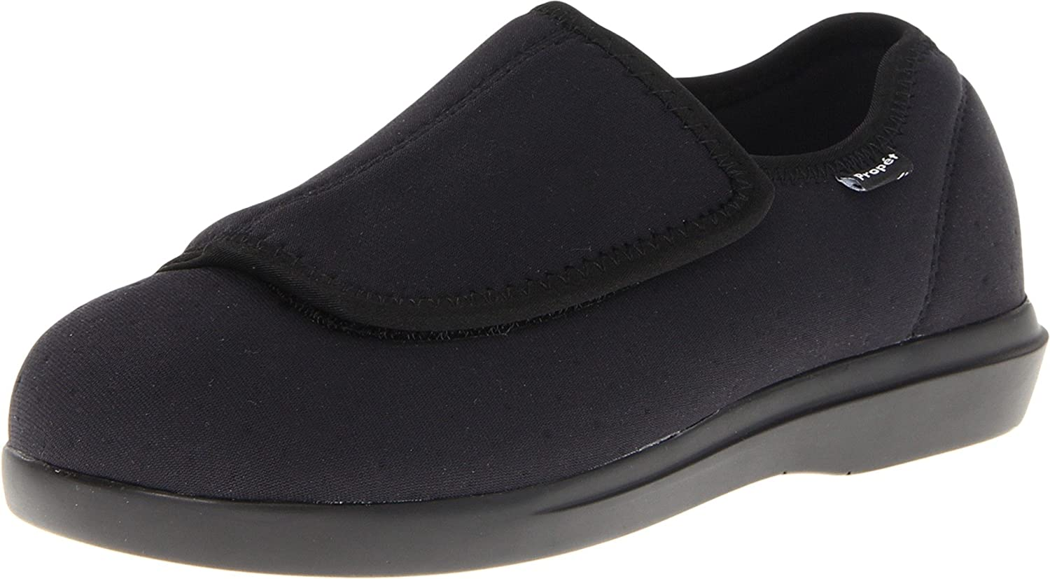 Propét Women's Cush N Foot Slipper B007M087WO 6.5 M (B) US|Black
