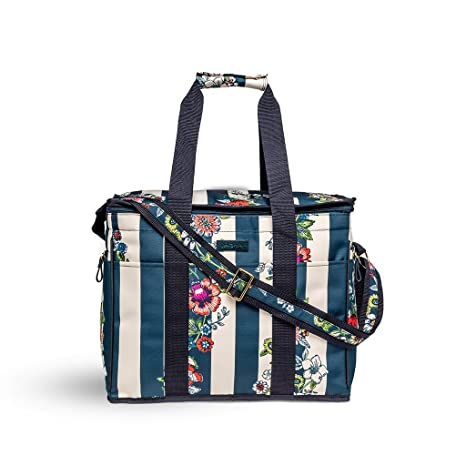 b5ff711fdd2a Vera Bradley Insulated Travel Soft Sided Collapsible Cooler Bag with  Handles