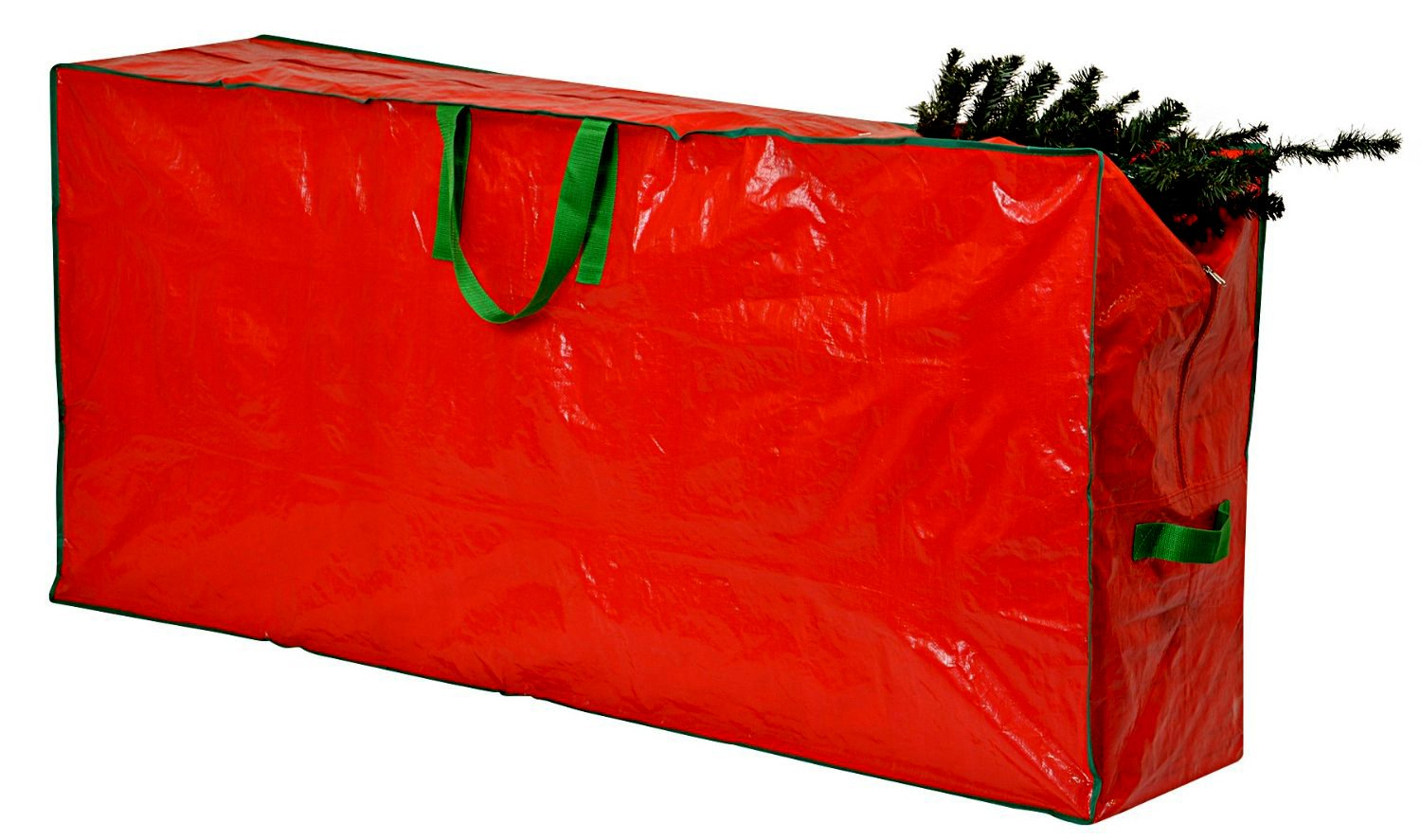Christmas Tree Storage Bag - 65'' x 15'' x 30'' - Extra Large Zippered Bag with 2 Reinforced Handles. Stores a 9-foot Disassembled Christmas Tree. Protects against Dust, Insects, and Moisture. (Red)